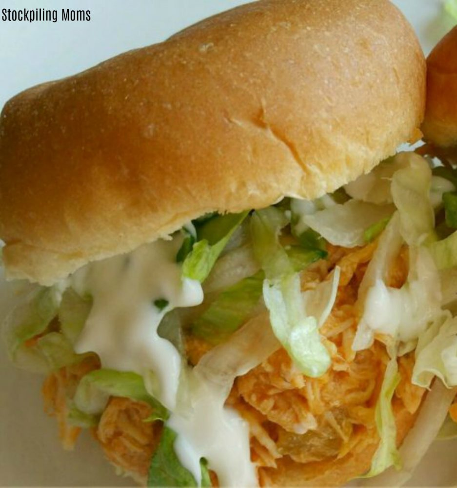 You can't get easier than Buffalo Chicken Party Sandwiches. They are perfect for game day!