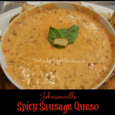 Spicy Sausage Queso is perfect for game day!
