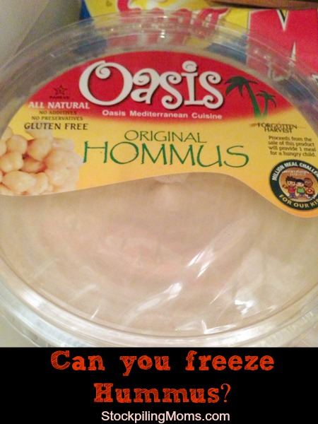 Can you freeze hummus?