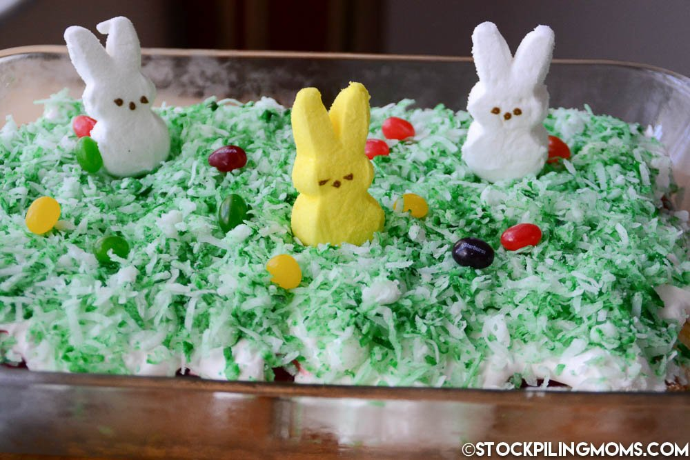 This Bunny Patch Dessert is easy to make and perfect for your Easter Celebrations! The kids love it!