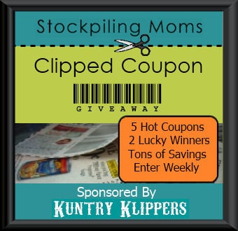 stockpiling moms coupon giveaway