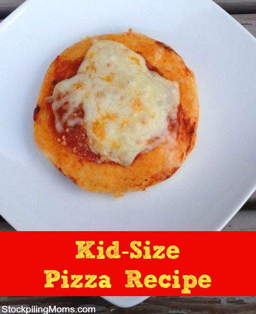 We love to make this Kid Size Pizza Recipe #kids #recipe
