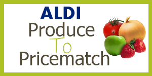 aldi produce to pricematch