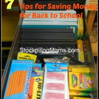 7 Tips for Saving Money for Back to School