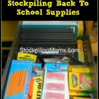 Stockpiling Back To School Supplies