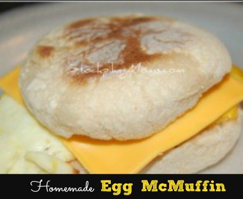 Homemade Egg McMuffin is our favorite on the go breakfast sandwich!