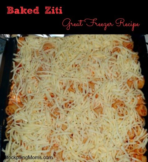 Baked Ziti is our families favorite dinner and best of all it is an easy freezer recipe!