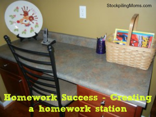 Homework Success - How to create a homework station and start the school year off right! #BackToSchool
