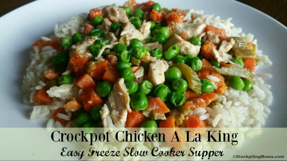 Crockpot Chicken A La King is an easy freezer recipe the whole family will love!