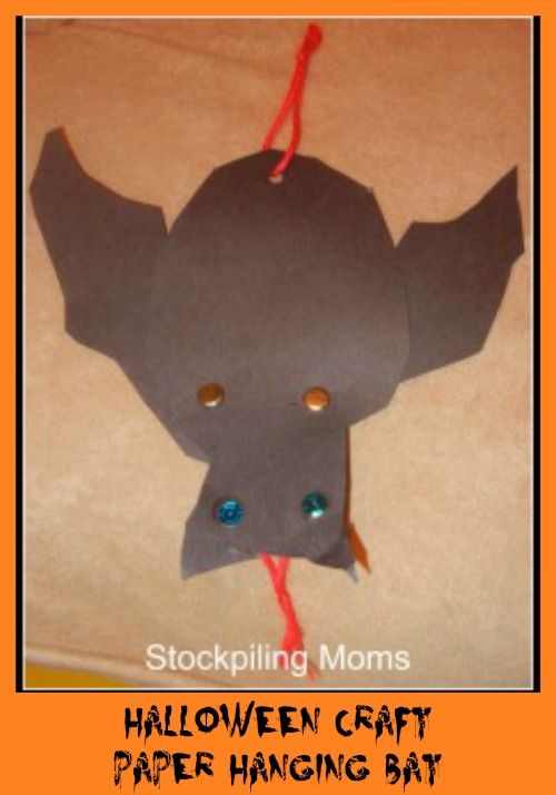 Halloween Craft Paper Hanging Bat