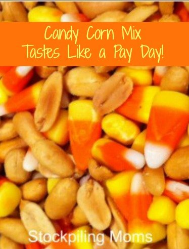 Candy Corn Mix is AMAZING!  My husband shared this treat with me and it takes exactly like a payday candy bar. It is perfect for fall!
