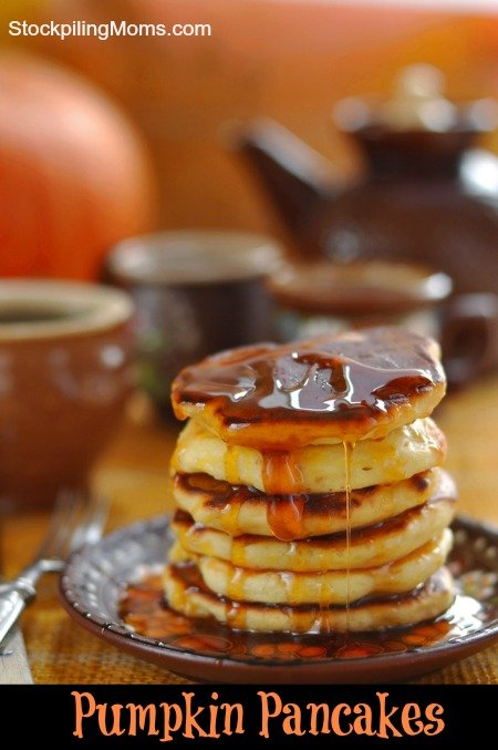 Pumpkin Pancakes are the most delicious fall breakfast recipe!