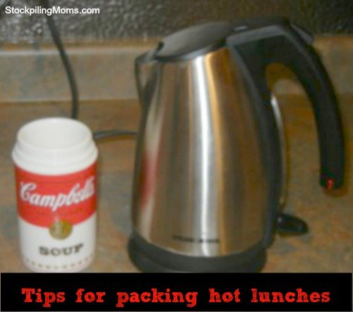 Tips for Packing Hot Lunches - how to heat a thermos