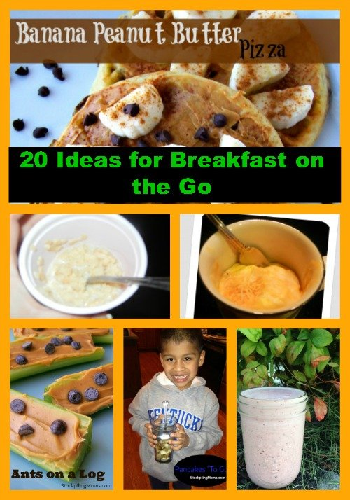 Here are 20 Ideas for Breakfast on the go suggestions to help you on those busy mornings!