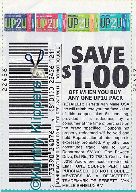 MENTOS UP2U COUPON
