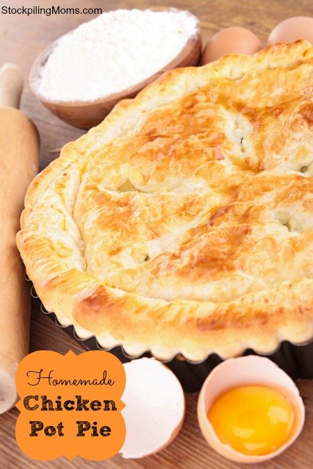 Homemade Chicken Pot Pie is pure southern comfort food!