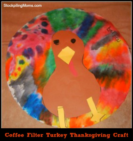 Create a Turkey using watercolors for the feathers!