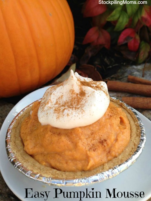 Easy Pumpkin Mousse is the perfect individual size portion controlled dessert for Thanksgiving Day.