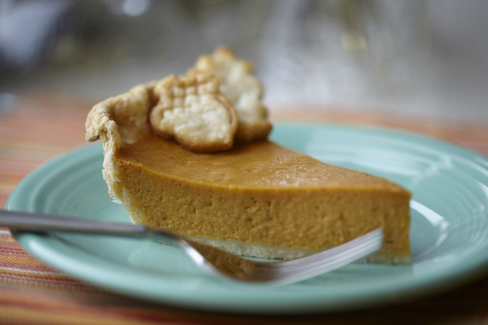 Eagle Brand Pumpkin Pie Recipe is rich and creamy and perfect for Thanksgiving Day. This simple garnish makes it look like its store bought when really its homemade.