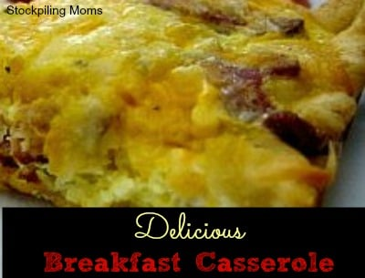 Breakfast Casserole (Crescent Rolls and Ham)