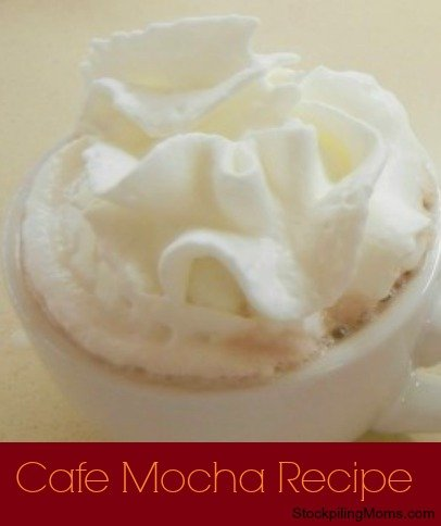 If you love a Cafe Mocha (and who doesn't) you are going to love this recipe. It will save you TONS of money at the coffee house!