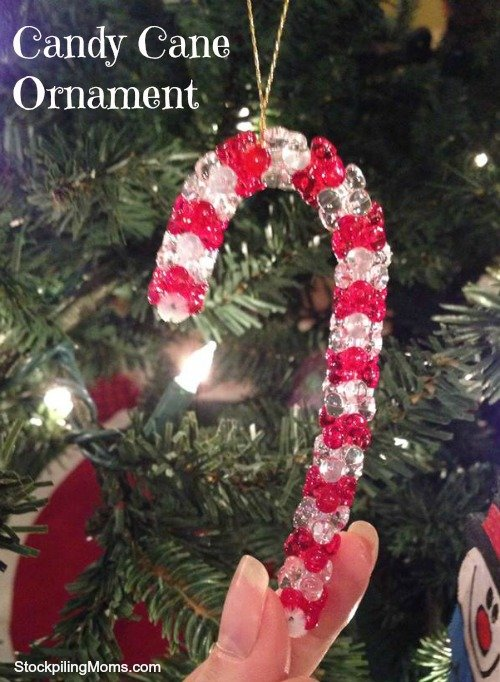 This Candy Cane Ornament one of the easiest crafts you can make with your kids.