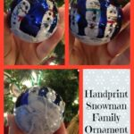 Handprint Snowman Family Ornament