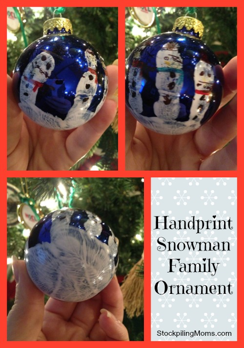 An inexpensive and creative gift idea.  I love anything with my son's hand print.