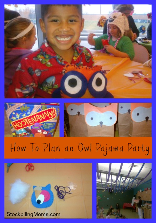 How To Plan an Owl Pajama Party