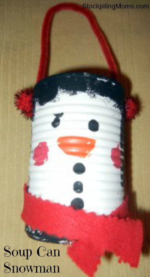 I love this Eco Friendly Soup Can Snowman