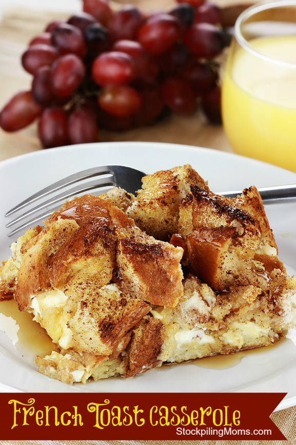 French Toast Casserole is our family favorite for Christmas morning!