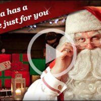 Free Video Message from Santa at Portable North Pole