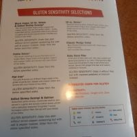 Gluten Free Menu at TGI Fridays