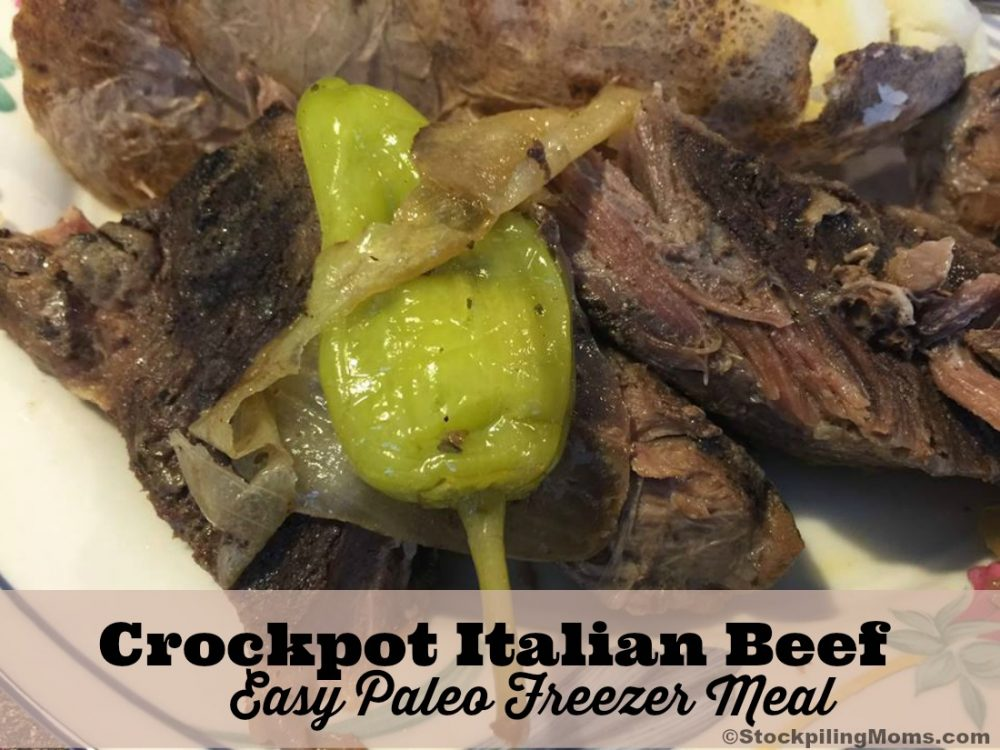 Crockpot Italian Beef - Easy Paleo Freezer Meal