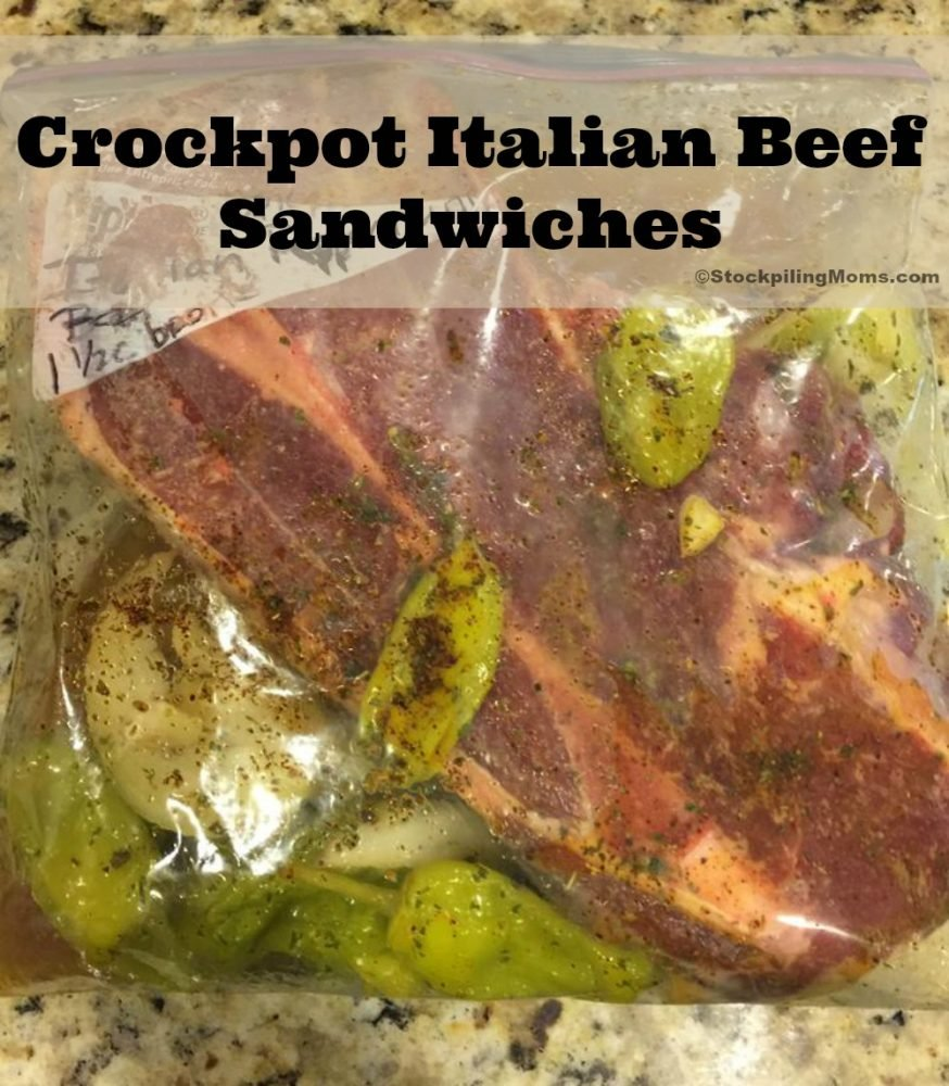 Crockpot Italian Beef Sandwiches are an easy freezer meal the whole family will love!
