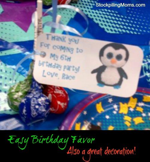 Easy Birthday Favor
