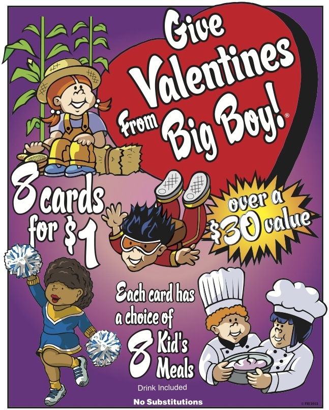 Frisch's Valentine's Day Kid's Meal Cards