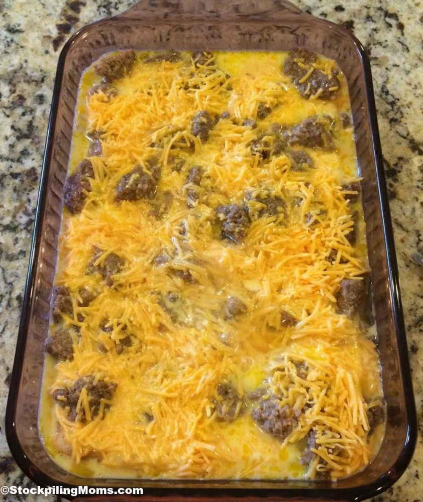 This gluten free breakfast casserole is AMAZING! My guests never realize it is gluten free until I take a bite!