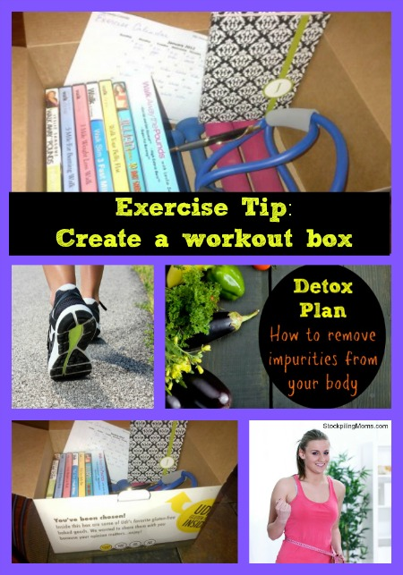 exercise tip - create a work out box