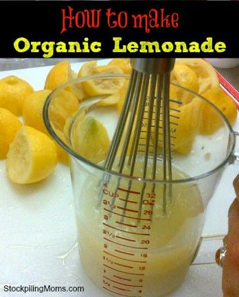 How to make Organic Lemonade