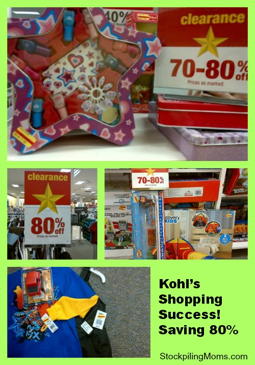Kohl's Shopping Success – 80 off