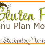 #GlutenFree Weekly Menu Plan