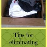 Tips for eliminating clutter
