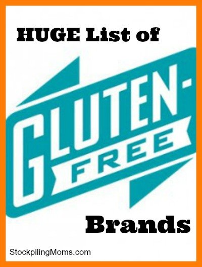 This list wil make your gluten free journey easier! A must pin!