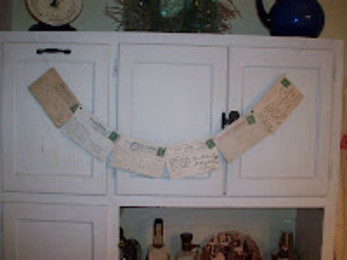 DIY Vintage Postcards Garland
