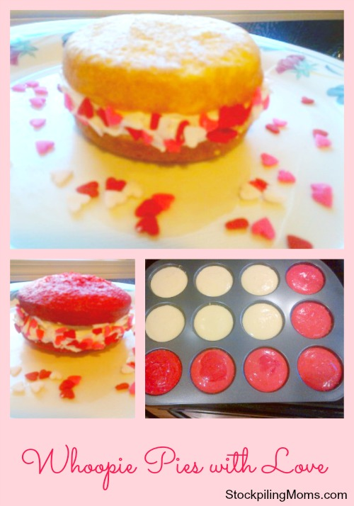 Whoopie Pies made with love are perfect for Valentine's Day!