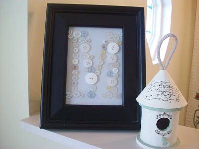 Vintage Buttons Monogram Frame is perfect for gift giving