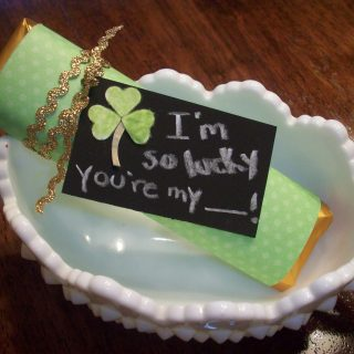 St. Patrick's Day LUCKY Gold Bar