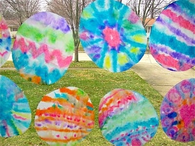 Pinterest Pin Of The Day Kids Craft Idea Coffee Filter Easter Eggs