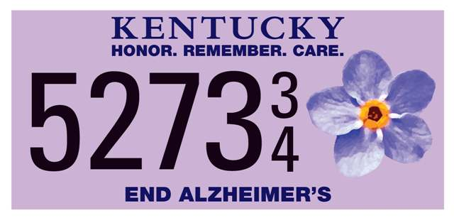 Help Us Get a Specialty Alzheimer's License Plate for Kentucky